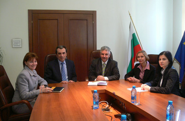 MINISTER ORESHARSKI MET WITH THE TEAM OF THE AUDIT COMMITTEE TO THE AUDIT OF EU FUNDS EXECUTIVE AGENCY