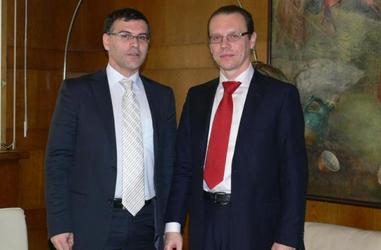 MEETING OF THE DEPUTY PRIME MINISTER AND MINISTER OF FINANCE SIMEON DJANKOV WITH ALGIRDAS SEMETA - EUROPEAN COMMISSIONER RESPONSIBLE FOR TAXATION AND CUSTOMS UNION, AUDIT AND ANTI-FRAUD