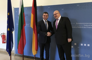 MINISTER GORANOV HAD A WORKING MEETING WITH GERMAN FEDERAL MINISTER OF FINANCE PETER ALTMAIER IN BERLIN