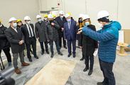 Inspection of the construction of the building on the Sofia Tech Park territory where the super computer, which is part of the EuroHPC Joint Undertaking, will be located